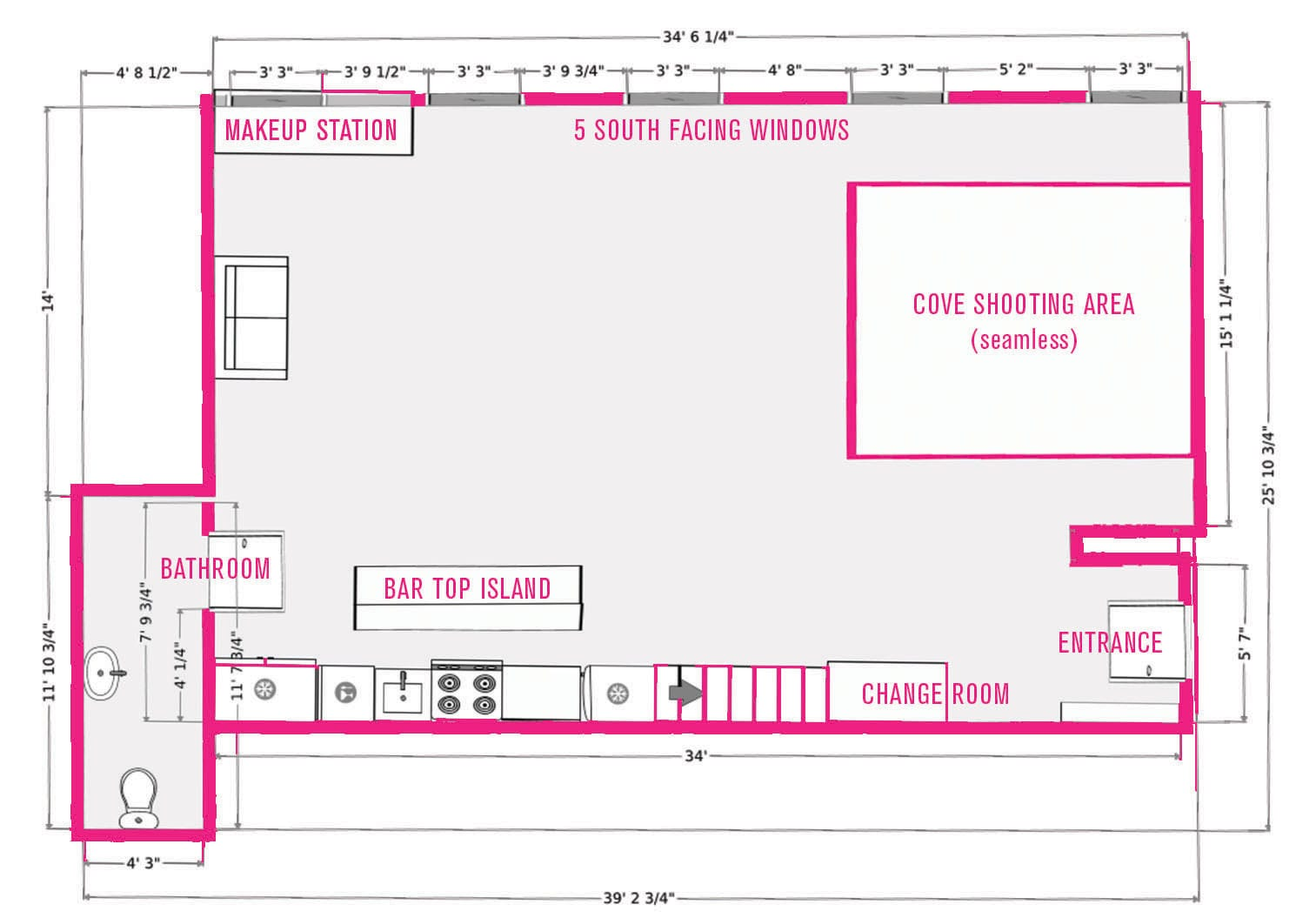 facilities floor plan studio 207 studio